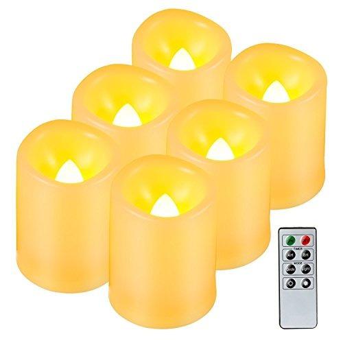 kohree realista de baterías de velas de pilar sin llama, ve