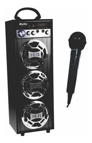 kolke parlante portatil con bateria y karaoke kpg-100 cuotas