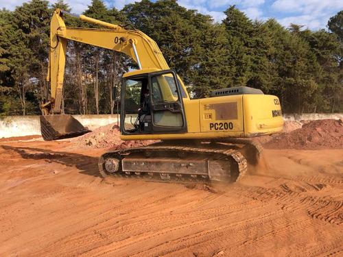 komatsu escavadeiras escavadeira pc200