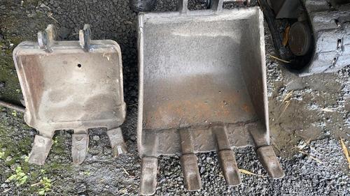 komatsu pc09 mini-excavadora con martillo y 2 baldes
