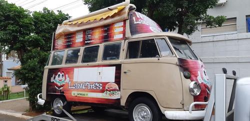 kombi antiga food truck teto duplo corujinha combi vw bus