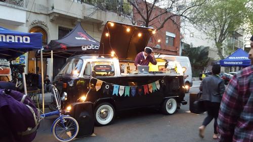 kombi food truck barra movil cabina dj furgon combi alquiler