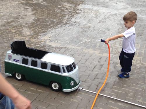 kombi, mini carro, raridade, brinquedo antigo de puxar