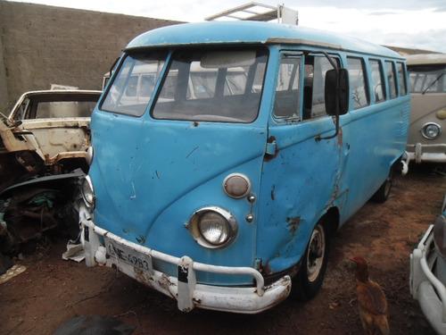kombi vw van corujinha 1965 funcionando lisa de lata p/ rest