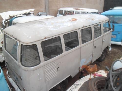 kombi vw van corujinha 1970 funcionando lisa de lata p/ rest