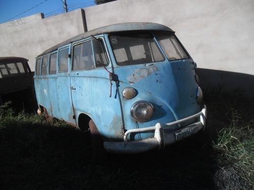kombi vw van corujinha 1971 p/ restaurar - tem docks e motor