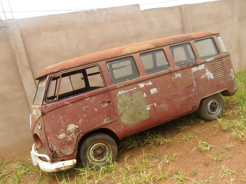 kombi vw van corujinha 1973 p/ restaurar - sem motor