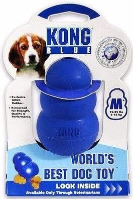 kong blue mediano para perros de 5 a 15 kg mordida fuerte