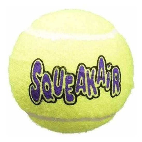 kong pelotas de tenis air dog squeakair dog toy, medium