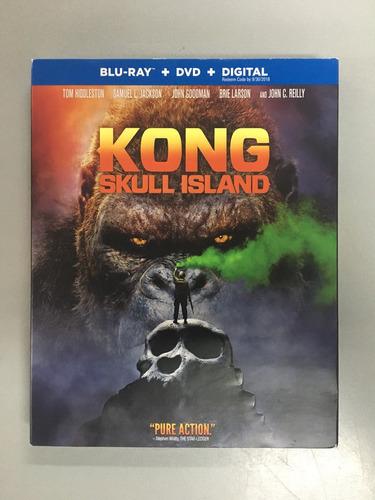 kong skull island blu ray + dvd + digital copy nuevo