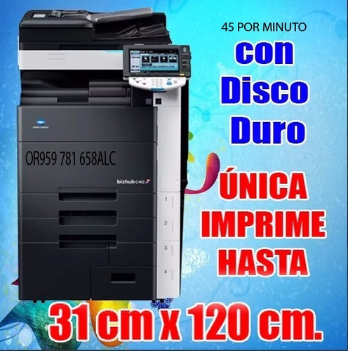 konica c452 color ¡super oferta! hasta 31 cm. x 120 cm.