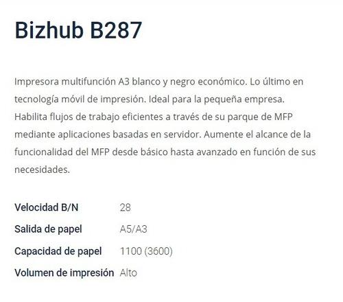 konica minolta b287