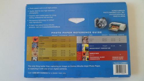 konica minolta papel fotográfico gloss finish 270 grs 18x13