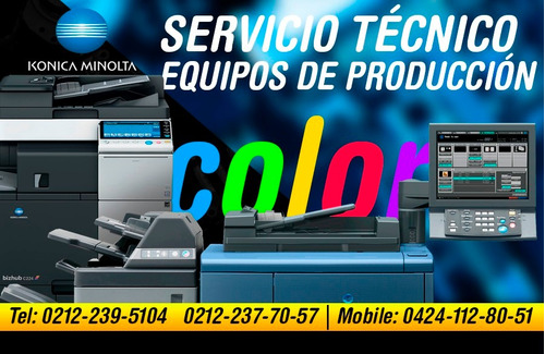 konica minolta servicio tecnico linea bizhub y magicolor ccs