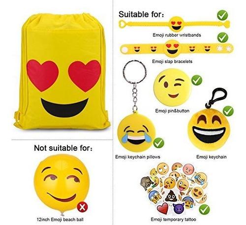 konsait emoji bolsas para fiesta de emoji suministros 12pack