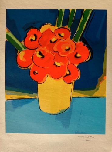 konstantin christoff - vaso de flores - linda serigrafia !!!