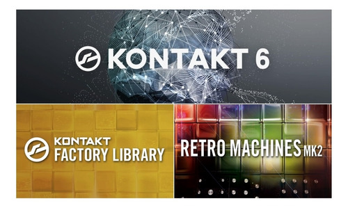 kontakt 6.3 + kontakt factory library + retro machines mk2