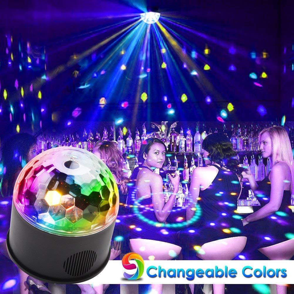 b1fd5e0d3 Koot Luces De Discoteca Bolas, 9 Colores Se Activa Por Sonid ...