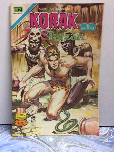 korak número 6. el hijo de tarzán. cómic antiguo