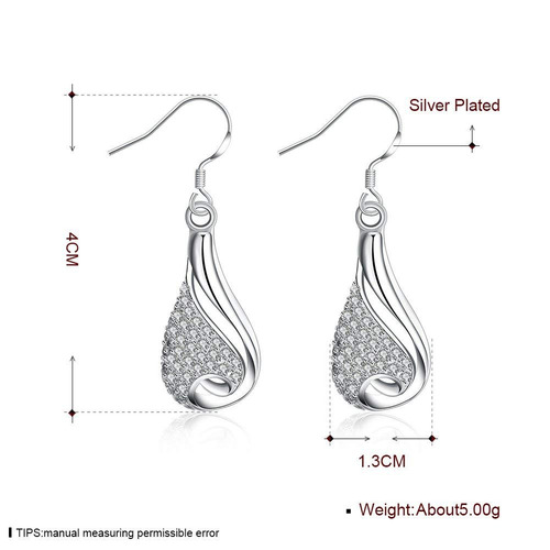 a00e39627 Korea Jiaen Pendientes S925 Sterling Silver Plated Base D ...