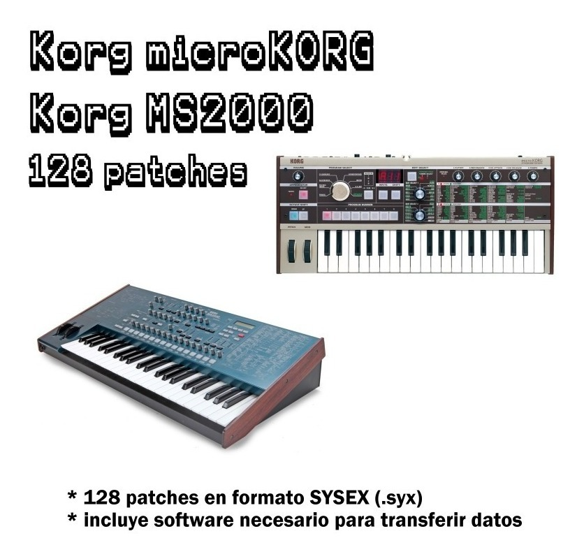 Korg Microkorg Ms2000 - 128 Patches Sysex Librería