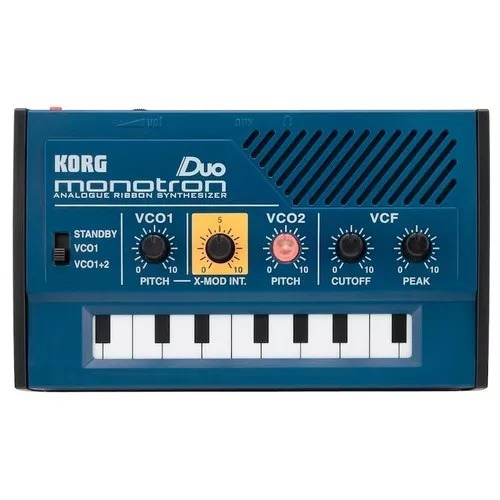 korg monotron duo - mini sintetizador analógico portátil