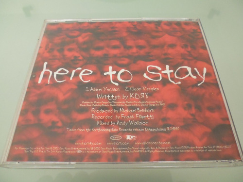 korn / here to stay / single / cd / rock / importado /