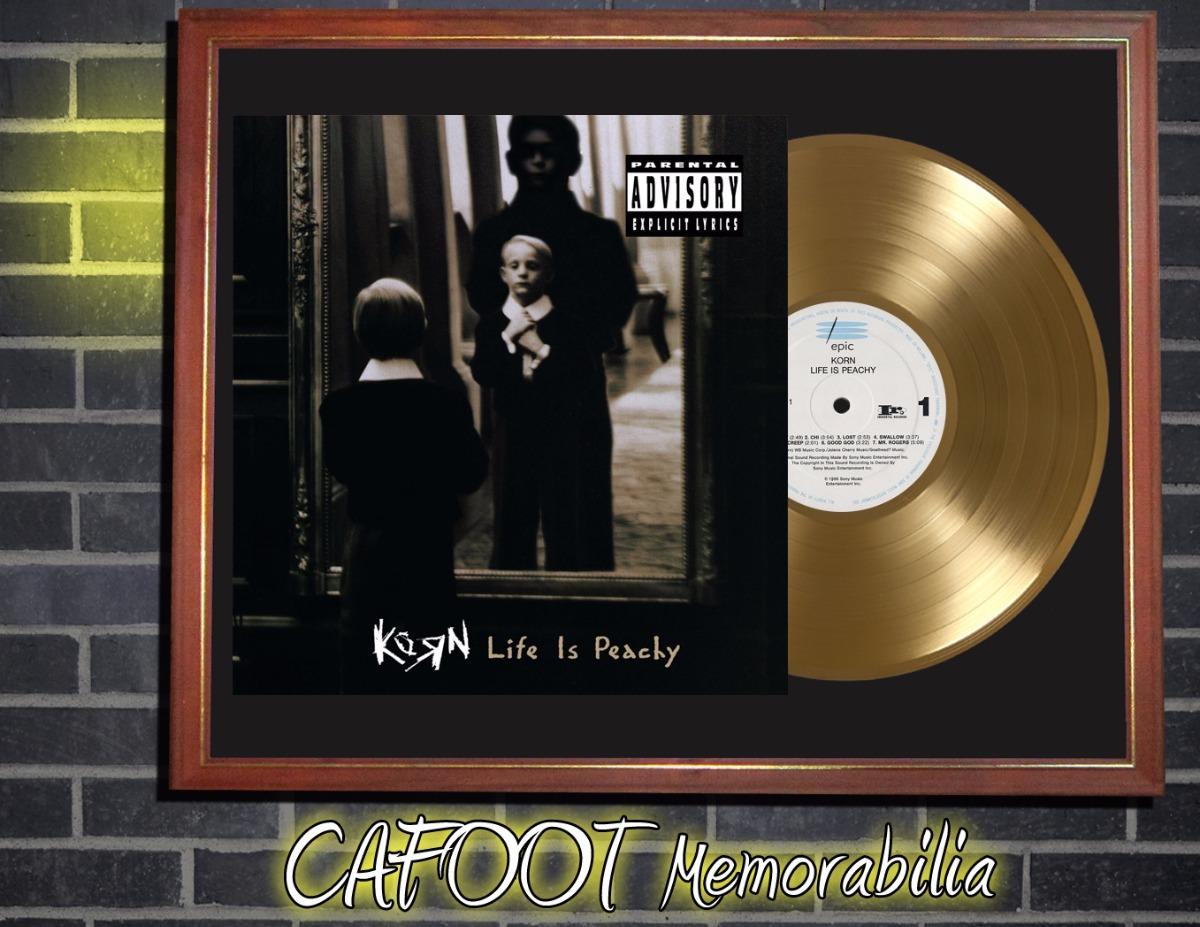 Korn Life Is Peachy Tapa Lp Y Disco Oro Enmarcados - $ 599,00 en ...