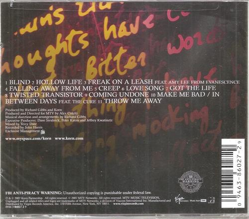 korn - unplugged mtv (cd nuevo sellado importado de usa)