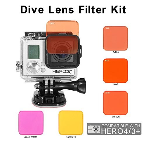 koroao professional underwater switchable diving filter set