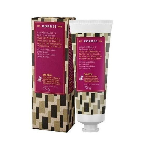 korres - hidratante para mãos - óleo de amêndoas e karité