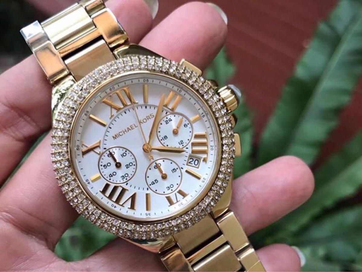 06949deecfd Relógio Michael Kors Mk5756 Dourado Feminino Original - R  950
