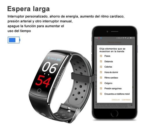 koscheal ip68 pulsera inteligente, reloj deportivo(gris)