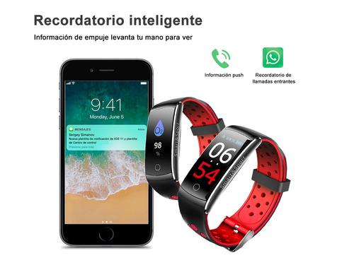 koscheal ip68 pulsera inteligente, reloj deportivo(rojo)