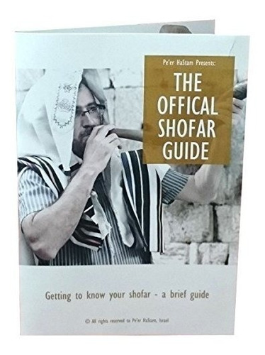 kosher rams horn polished shofar by peer hastam - with guide