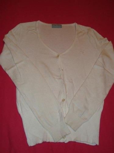 kosiuko cardigan blanco escote v talle s envio gratis-cuotas