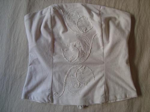 kosiuko finísimo top corset bordado en.gratis cuotas s/inter