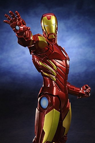 kotobukiya iron man marvel now variante de color rojo estatu