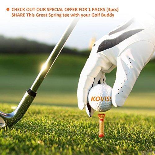 koviss flexible original spring vs golf ball tees 76 68 39mm