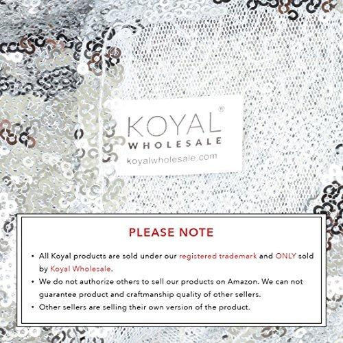 koyal wholesale sequin table runner, 12 por 108 pulgadas, p