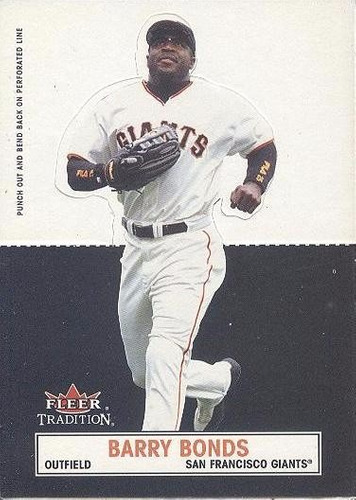 kp3 barry bonds 2003 fleer tradition standsouts # 1 gigantes