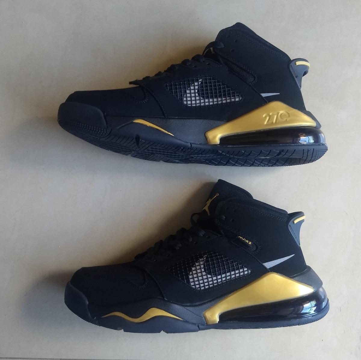 Paleto Crónica oración  Kp3 Botas Caballeros Nike Air Jordan Mars 270 Negro Dorado - Bs.  10.617.000,00 en Mercado Libre