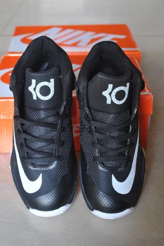 kp3 botas niños nike kevin durant trey negro blanco solo 33