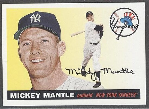 kp3 mickey mantle 2011 topps lost cards # lc8 yankees