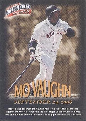 kp3 mo vaughn 1997-98 fleer million d moments # 42