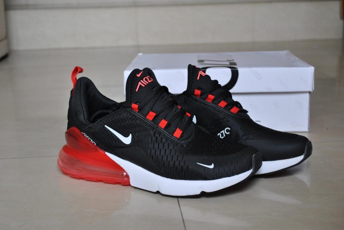 air max 270 rojos con negro