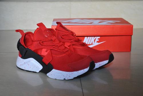 kp3 zapatos caballeros nike air huarache city rojo