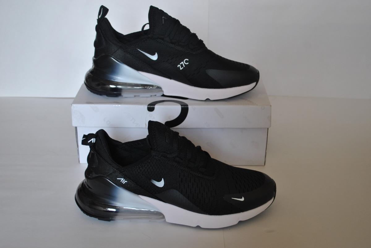 Kp3 Zapatos Caballeros Nike Air Max 270 Negro Blanco 2
