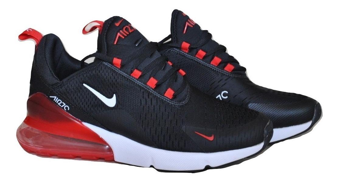 Kp3 Zapatos Caballeros Nike Air Max 270 Negro Rojo 2