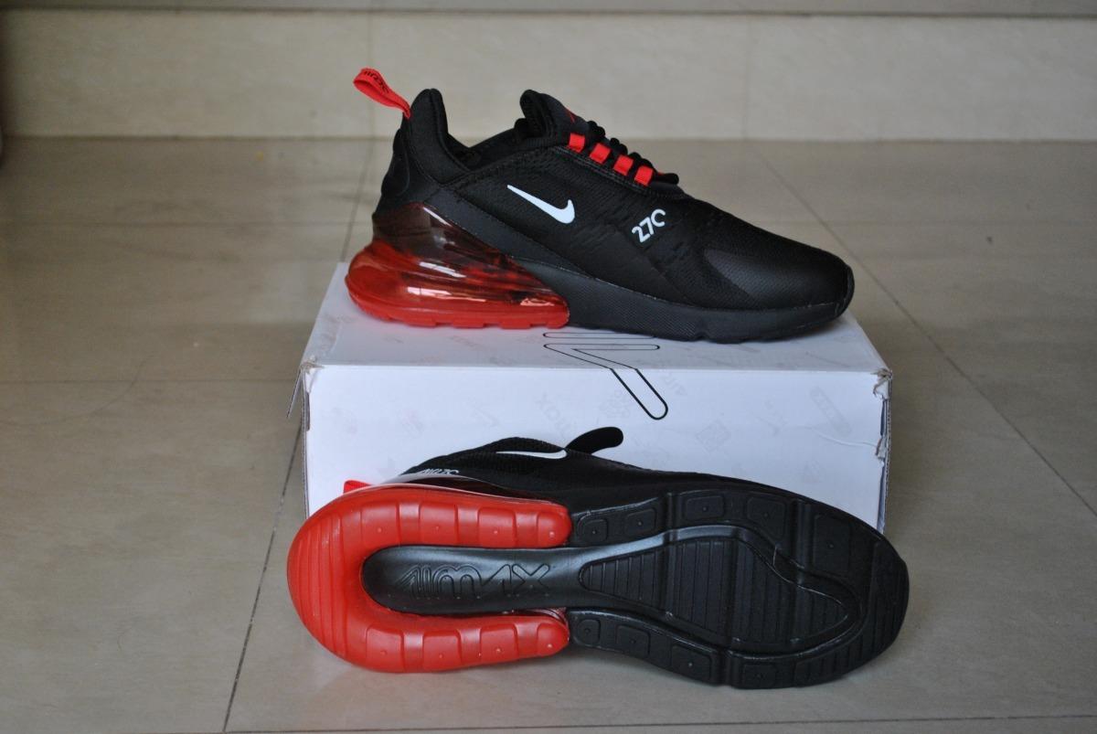 Kp3 Zapatos Caballeros Nike Air Max 270 Negro Rojo Solo 45